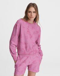 Rag & Bone City Tie Dye Terry Sweatshirt Relaxed Fit Jumper - Pink