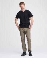Rag & Bone Classic Cotton Henley Classic Fit Shirt - Black