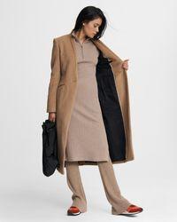 Rag & Bone Liam Camel Hair Coat Classic Fit Coat - Natural