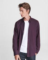 Rag & Bone Fit 2 Tomlin - Cotton Classic Fit Button Down Shirt - Purple