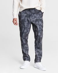 Rag & Bone Camo Corbin Cargo Ii Relaxed Fit Cotton Pant - Grey