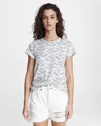 Rag & Bone All Over Summer Floral Jersey Tee Classic Fit T-shirt - Multicolour