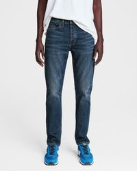 Rag & Bone Fit 2 - Beldon Slim Fit Dark Indigo Authentic Stretch Jean - Blue