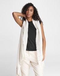 Rag & Bone Kara Playa Linen Blend Vest Lightweight Vest - White