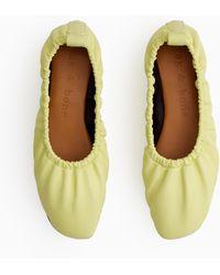 Rag & Bone Elly Flat - Leather Soft Ballet Flat - Green