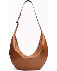 Rag & Bone Riser Hobo - Leather Large Crossbody Bag - Brown