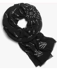 Rag & Bone - Embroidered dagger Scarf - Lyst