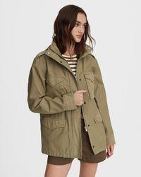 Rag & Bone M65 Field Cotton Jacket Relaxed Fit Jacket - Green