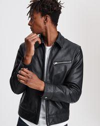 Rag & Bone Leather Garage Jacket - Black