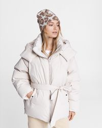 Rag & Bone M42 Donna Cotton Puffer Relaxed Fit Coat - Natural