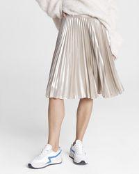 Rag & Bone Pleated Skirt Silver - Metallic