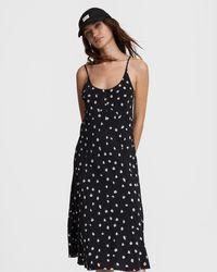 Rag & Bone Eva Slip Midi Dress Viscose Dress - Black