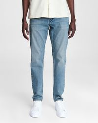 Rag & Bone Fit 1 - Lincoln Skinny Fit Mid Indigo Authentic Stretch Jean - Blue