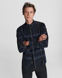Rag & Bone Fit 2 Tomlin - Cotton Flannel Classic Fit Button Down Shirt - Blue