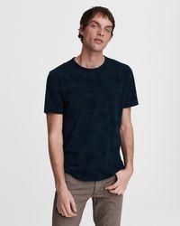 Rag & Bone - Haydon Tie Dye Cotton Linen Tee Relaxed Fit T-shirt - Lyst