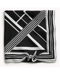 Rag & Bone Colorblock Bandana - Black