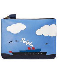 Ralph Lauren - Steamboat Large Zip Pouch - Lyst