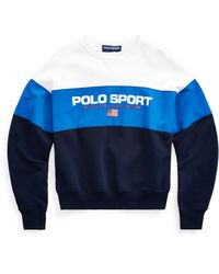 Ralph Lauren Color-blocked Polo Sport Sweatshirt - Blue