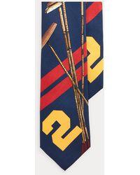 Polo Ralph Lauren Seidenkrawatte mit Poloschlägern - Blau