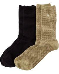 Ralph Lauren Cable-knit Trouser Sock 2-pack - Multicolor