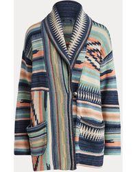 Polo Ralph Lauren Cardigan à col châle sud-ouest américain - Bleu