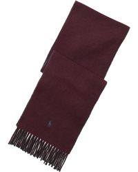 Polo Ralph Lauren - Fringed Reversible Scarf - Lyst