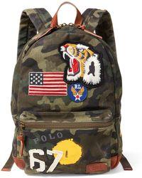 Polo Ralph Lauren - Patchwork Camo Canvas Backpack - Lyst