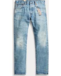 RRL Jeans con cimosa Slim-Fit - Blu