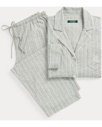 Ralph Lauren Pijama Capri De Algodón - Gris