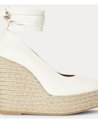 Polo Ralph Lauren Espadrilles en cuir - Blanc