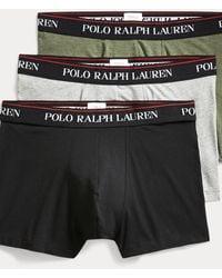 Polo Ralph Lauren Lot de 3 boxers en coton stretch - Noir