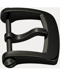 Ralph Lauren Fibbia ad ardiglione acciaio nero 18 mm