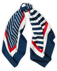Ralph Lauren - Contrast-stripe Silk Scarf - Lyst