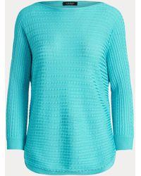 Ralph Lauren Cable-knit Boatneck Jumper - Blue