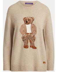 Ralph Lauren Jersey Bedford Con Polo Bear - Neutro