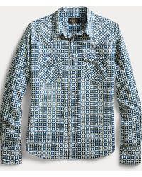 RRL Camisa Western Con Estampado Índigo - Multicolor