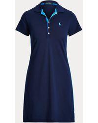 Ralph Lauren Striped-trim Polo Dress - Blue