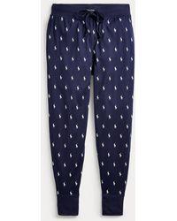 Polo Ralph Lauren Baumwolljogginghose mit Ponys - Blau