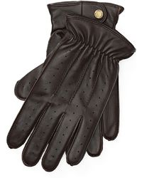 Polo Ralph Lauren - Perforated Leather Gloves - Lyst