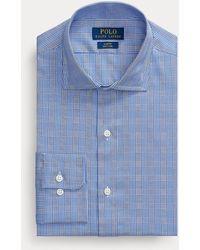 Polo Ralph Lauren Kariertes Slim-Fit-Oxfordhemd - Blau