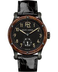 Ralph Lauren 39 Mm Steel - Black