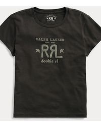 RRL Logo Crewneck Tee - Black