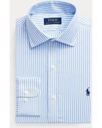 Polo Ralph Lauren Camisa Regent Custom Fit A Rayas - Azul