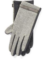 Ralph Lauren - Herringbone Wool Tech Gloves - Lyst