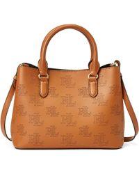 Ralph Lauren - Lauren Dryden Marcy Logo Leather Satchel Bag - Lyst