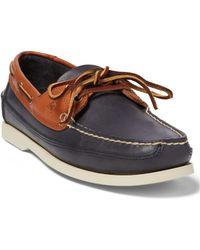 Polo Ralph Lauren Calfskin Boat Shoe - Blue