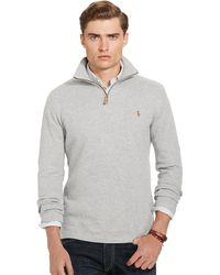 Polo ralph lauren Estate-rib Cotton Pullover in Gray for Men | Lyst