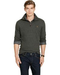 Polo ralph lauren Estate-rib Cotton Pullover in Natural for Men | Lyst