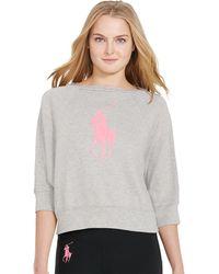 Pink Pony - Pink Pony Cropped Sweatshirt - Lyst