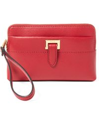 Pink Pony - Pebbled Leather Wristlet Pouch - Lyst